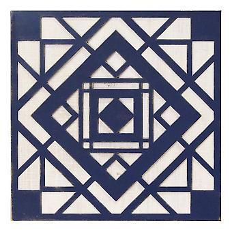Blue Aztec Metal & Wood Wall Decor