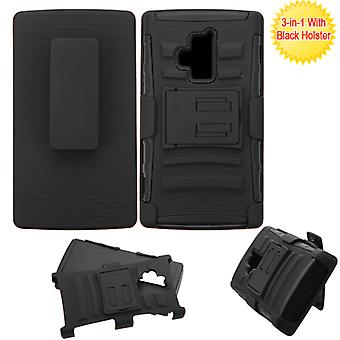 ASMYNA Advanced Armor Stand Case with Holster for Coolpad Rogue - Noir/Noir