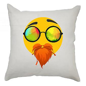 Emoji Cushion Cover 40cm x 40cm Ginger Beard