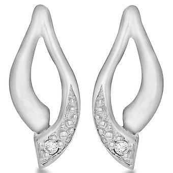 KJ Beckett Leaf form örhängen - Silver