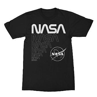 Nasa Classic Typography And Logo Men's T-shirt