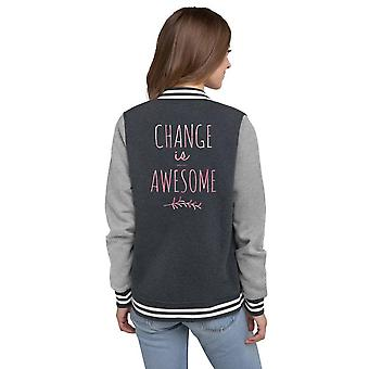 Women's Letterman Jacket | Change is Awesome