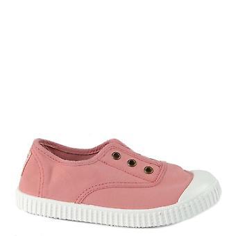 Victoria Shoes Kid's 106627 Nude Canvas Plimsolls