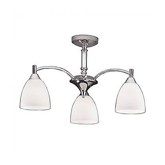 Emmy Chrome Ceiling Light 3 Bulbs