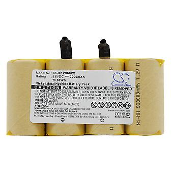فراغ البطارية للسود وديكر DV9605 DV9605-H1-3-90524185 Dustbuster 9.6V