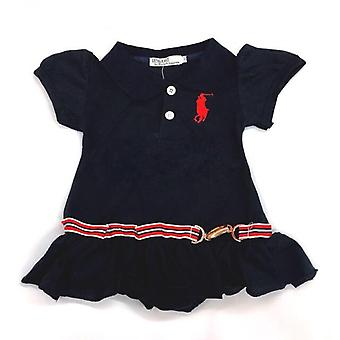 Baby girl polo navy sailor dress