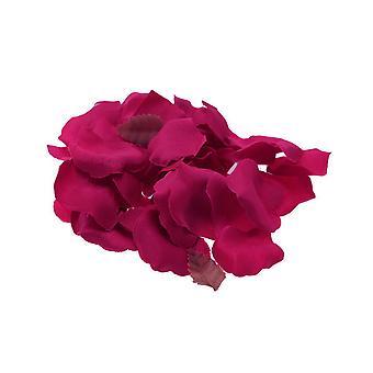 Лепестки розы горячей розовой искусственной ткани для свадьбы ремесла