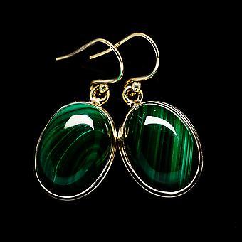 Malachite korvakorut 1 3/8&; (925 Sterling Silver) - Käsintehty Boho Vintage korut EARR403532