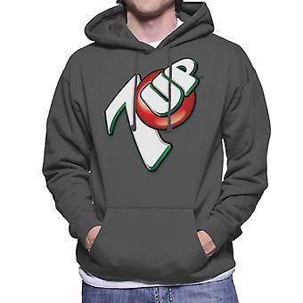 7up 00s Angled Logo Men's Hooded Sweatshirt