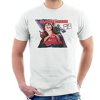 Hammer Horror films handen van de Ripper poster mannen ' s T-shirt