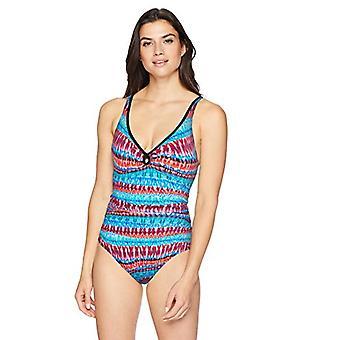 Brand - Coastal Blue Women's Control One Piece Swimsuit, Dynamite, S
