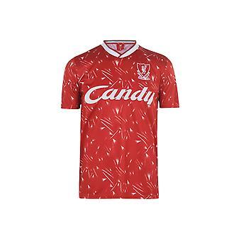 Équipe Liverpool 1989 1990 Home Shirt Hommes