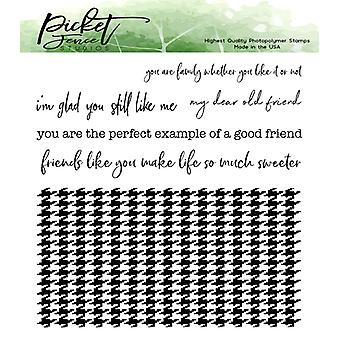 Picket Fence Studios Classic Houndstooth Clear Stamps