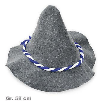 Seppl hoed blauw witte Beierse Oktoberfest