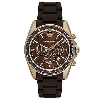 Emporio Armani AR6099 Sigma Chronograph Brown Dial Men's Horloge