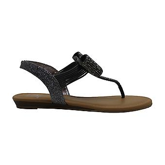 Material Girl Womens Seana Split Toe Casual Slingback Sandals