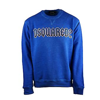 Dsquared2 Rock Logo Cool Fit Blue Sweatshirt