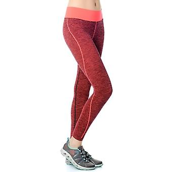 Jerf Womens Inkoo Red Melange Seamless Active Leggings