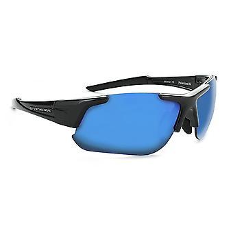 Flashdrive polarized -shiny black polarized interchangeable sunglasses