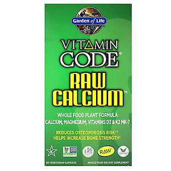 Jardín de la Vida, Código de Vitaminas, Calcio RAW, 60 Cápsulas Vegetarianas