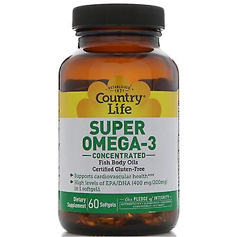 Country Life, Super Omega-3, Konzentriert, 60 Softgels
