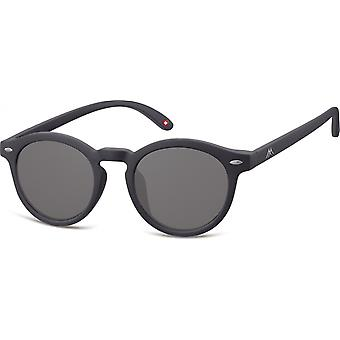 Sunglasses Unisex panto cat.3 matt black (S28)
