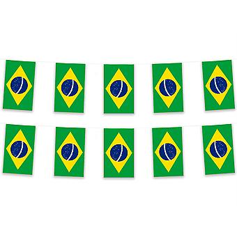 Pack van 3 Brazilië Bunting 15m Polyester Fabric Country National