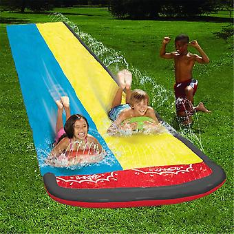 20ft Double Racer Pool Kids Summer Park Backyard Play, Sjov Udendørs Splash Slips