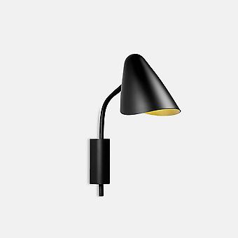 Leds-C4 Organic - Wall Light Organic Black Golden 1x E14