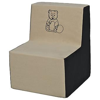 Kinderstoel schuim beige & grijs