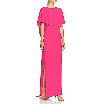 Halston Heritage   Cape Sleeve High-Neck Georgette Gown