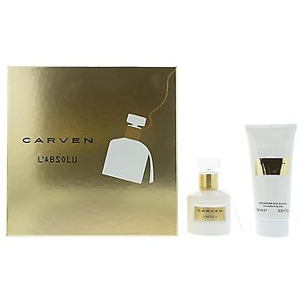 Carven L'Absolu Eau de Parfum 50ml & Perfumed Body Milk 100ml Gift Set For Her