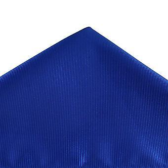 Ties Planet Plain Dark Royal Blue Ribbed Pocket Square Handkerchief