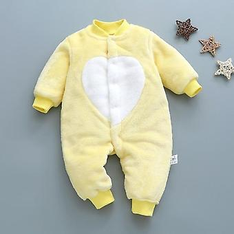 Autumn & Winter Baby Clothes - Dinosaur Print, Soft Fleece Jumpsuit Pajamas
