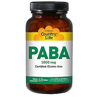 Country Life Paba TR, 1000 MG, 60 Tabs