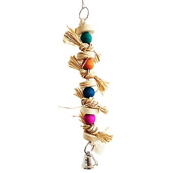 Bird Parrot Natural Straw Snap Scratch Toy