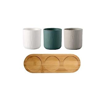 Ceramics Gargle Mug Cups Bathroom Set - Toothbrush Holders