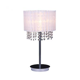 Astra Wh Crystal Desk Lamp White