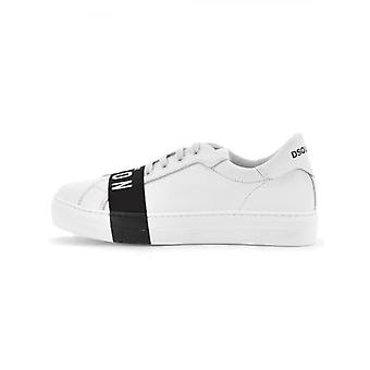 DSQUARED2 Kids White Lace Up Trainers