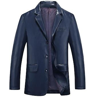 Hodor mens 3 button leather blazer