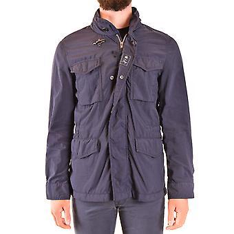 Fay Ezbc035075 Men's Blue Nylon Outerwear Jacket