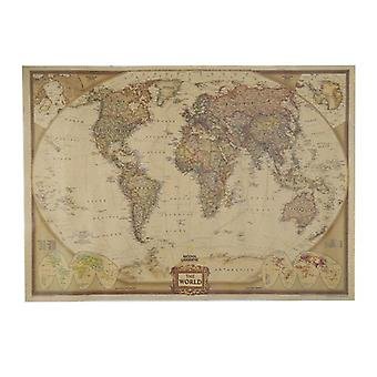 Vintage Matte-kraft Paper-world-map  For Home Decor
