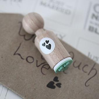 3 hjerter meget Mini gummistempel - håndværk / Scrapbooking / bryllup / Card Making