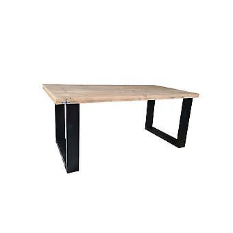 Wood4you - Eettafel New England  steigerhout 180Lx78Hx100D cm zwart
