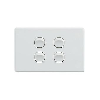 Klassiek 4 Gang Switch 250V 16Ax horizontaal pakket