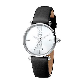 Just Cavalli Women's Armonia Silver Dial Calfskin Leather Watch