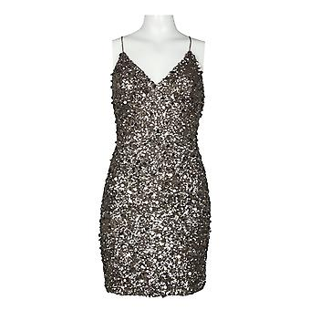 Papell V-neckline Sequin Sheath Dress