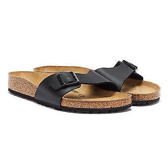Birkenstock Madryt Birko Flor damskie czarne sandały