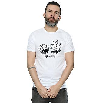 Rick ja Morty miesten päät mono T-paita