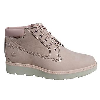 Timberland Kenniston Nellie Lace Up Pink Leather Womens Chukka Boots A1JTQ B84D